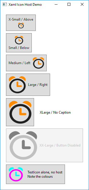 WPF Controls – Xaml Icon Host – Peregrine's View